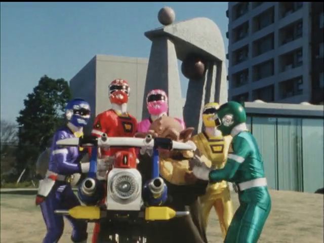 Gekisou Sentai Carranger: A Red Light To Enlarging